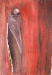 Rot, Flügel, Engel, Malerei