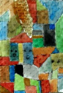 Gesicht, Abstrakt, Bunt, Malerei
