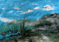 Himmel, Wasser, Erde, Malerei