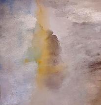 Nebel, Sonne, Menschen, Malerei