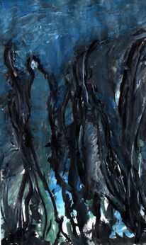Meer, Meerjungfrau, Wasser, Malerei