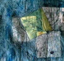 Blau, Kubistisch, Quadrat, Malerei