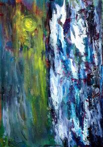 Blau, Gelb, Weiß, Malerei