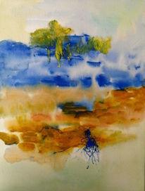 Blau, Ocker, Käfer, Malerei