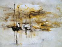 Abstrakt, Wasser, Schiff, Malerei