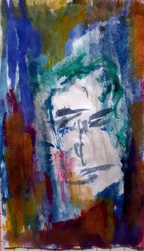 Menschen, Portrait, Mann, Malerei