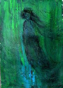 Windbraut, Blau, Grün, Malerei