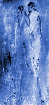 Menschen, Paar, Blau, Malerei