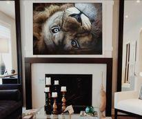 Tierwelt, Acrylmalerei, Löwe, Natur