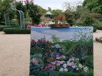 Rose, Botanischer garten, Pavillion, Malerei