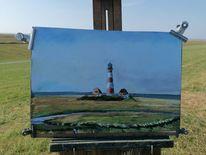 Nordsee, Leuchtturm, Malerei