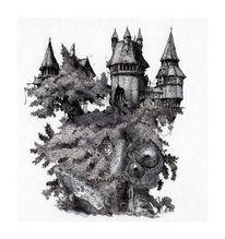 Schloss, Baum, Baumhaus, Natur
