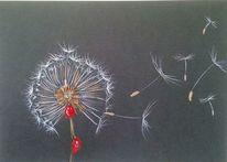 Pastellmalerei, Blumen, Zeichnungen, Wind