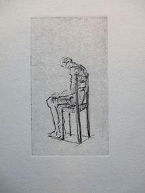 Stillleben, Miniatur, Druckgrafik, Stuhl