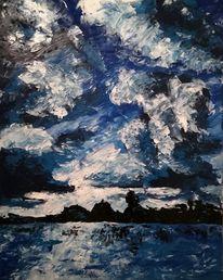 Berge, Acrylmalerei, Malerei, Farben