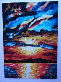 Malerei, Farben, Ölmalerei, Berge