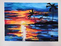 Farben, Landschaft, Palma, Meer