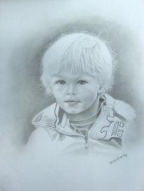 Junge, Grafit, Kind, Zeichnungen