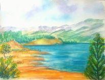 Landschaft, Blau, Baum, Sand