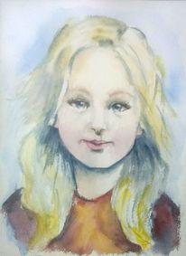 Menschen, Mädchen, Kinder, Kinderportrait