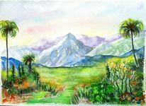 Landschaft, Berge, Sommer, Grün