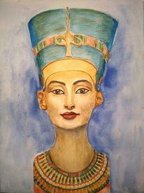 Nofretete, Ägypten, Frau, Portrait