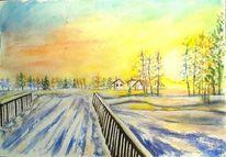 Natur, Sonne, Baum, Brücke