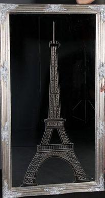 Spiegelscherben, Eiffelturm, Kunsthandwerk,
