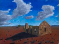 Ruine, Outback, Malerei,