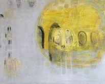 Abstrakte kunst, Acrylmalerei, Gelb, Abstrakt