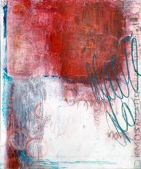 Modernde kunst, Rot, Abstrakt rot, Acrylmalerei