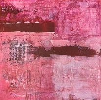 Acrylmalerei, Abstrakt rot, Modern art, Malerei