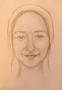 Fräulein, Zeichnung, Zeichnungen,