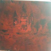 Acrylmalerei, Kirche, Malerei, Abstrakte kunst