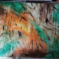 Acrylpainting, Acrylmalerei, Abstrakte kunst, Wald