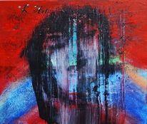 Abstrakte kunst, Gesicht, Acrylpainting, Menschen