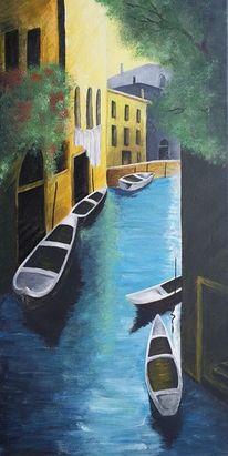Acrylmalerei, Bunt, Wasser, Gemälde