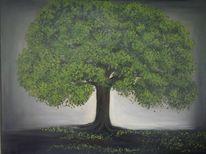 Baum, Gemälde, Aquarellmalerei, Blumen