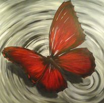 Ölmalerei, Rot, Licht, Dekoration