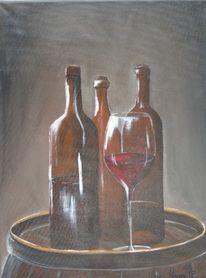 Wein, Grau, Fass, Braun