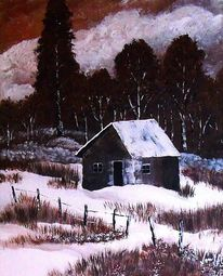 Schnee, Büro, Acryl malerei sturm, Winter