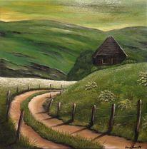 Wunschbild, Malerei, Gras, Modern art