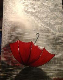 Blau, Regenschirm, Modern art, Farben