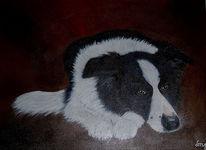 Hund, Malen, Portrait, Wandbild
