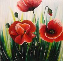 Blumen, Acrylmalerei, Sommer, Wunschbild