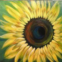 Blumen, Modern art, Farben, Acrylmalerei