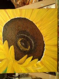Malerei, Acrylmalerei, Sonnenblumen, Sonnenblumen blüte
