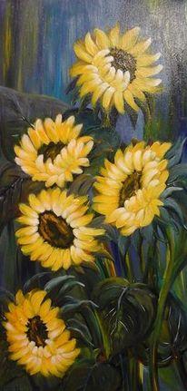 Blumen, Acrylmalerei, Sonnenblumen, Malerei