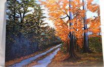 Büro, Baum, Landschaft, Acrylmalerei