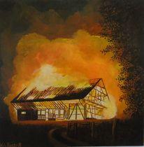 Malen, Wunschbild, Malerei, Feuerwehr